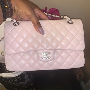 Rare 💫✨⚡️Chanel light pink double flap small